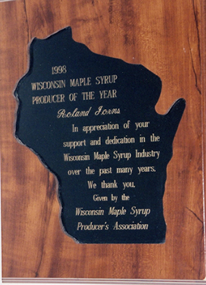 1998 Wisconsin Maple Syrup Producer of the Year